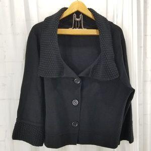 Cabi Sweater Jackie O Black Cropped Cardigan XL